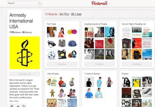 Pinterest di Amnesty International